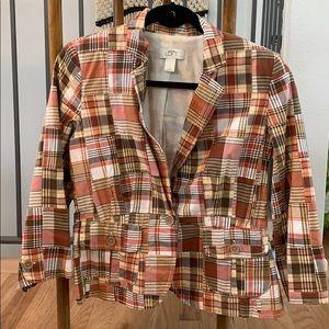Ann Taylor Loft Size 6 Plaid Blazer